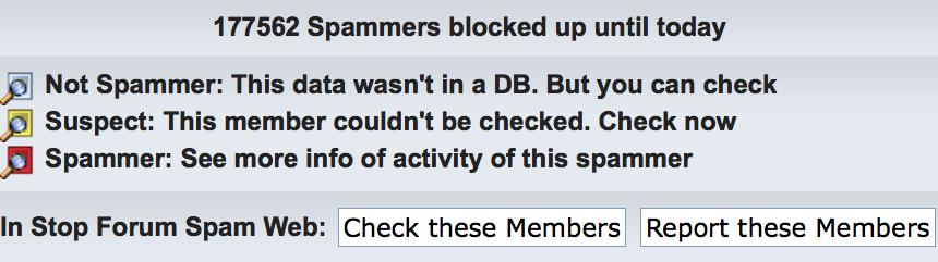 Summary of anti-spamming on the 3DNA Forum