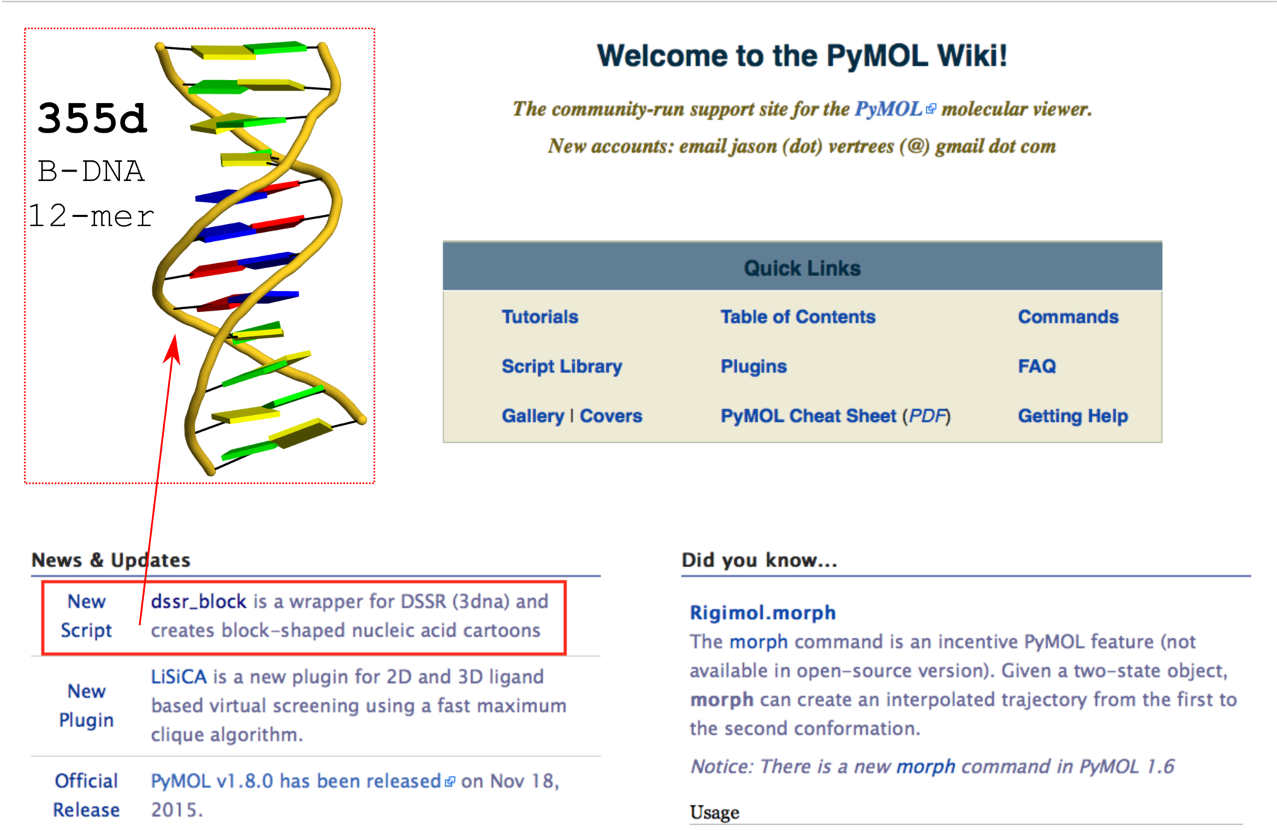 dssr_block news item on PyMOLWiki